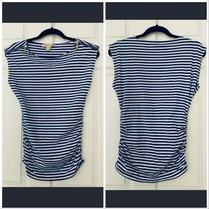 Michael by Michael Kors striped top - zippers
